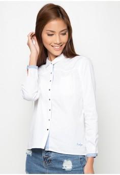 Basic Button Down Boyfriend Shirt