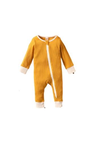 RAISING LITTLE yellow Poo Romper - Mustard 9A5DCKA52EC11AGS_1