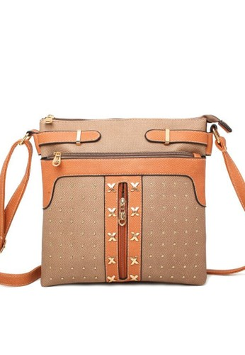 Goddess Duty orange and multi and beige and brown Goddess Kimie Bag 97EDAAC39D320DGS_1