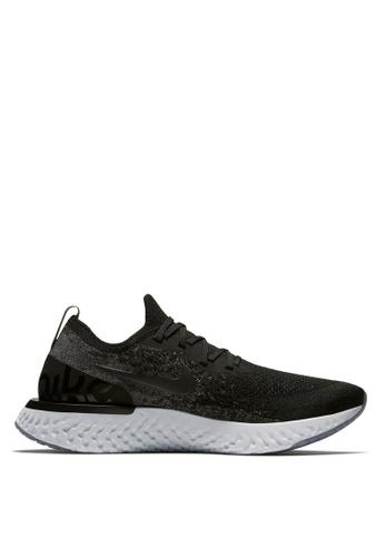 Nike black Men's Nike Epic React Flyknit Running Shoes ADA34SH32F7019GS_1