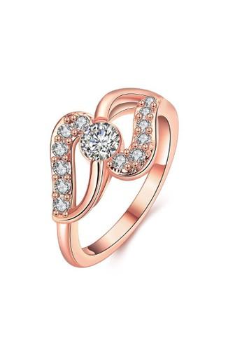 Tiaria pink Tiaria Ring Aksesoris Cincin Lapis Emas KZCR067-B-8--K10 D239FAC4112231GS_1