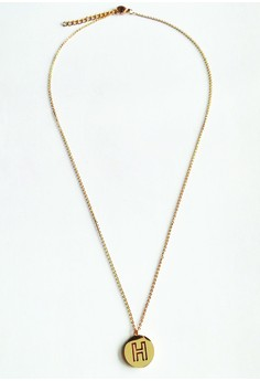 H Initial Disc Necklace