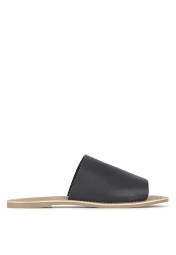 Betts black Madrid Leather Slip-On Sandals EF13ASH4644312GS_1