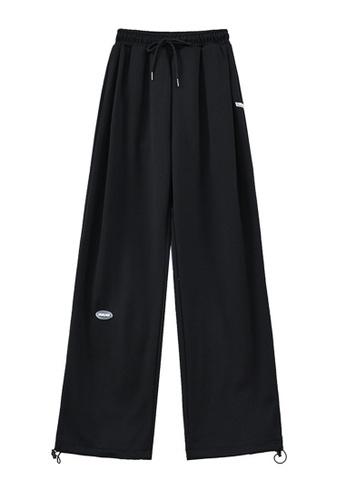 Zafiti black Women's High Waist Drawstring Waist Ankles-tied Cotton Warm Pant - Black 9A4A2AA9C460D7GS_1