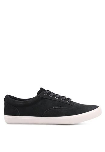 Jack & Jones black Vision Suede Sneakers D2B82SHC7D55EAGS_1
