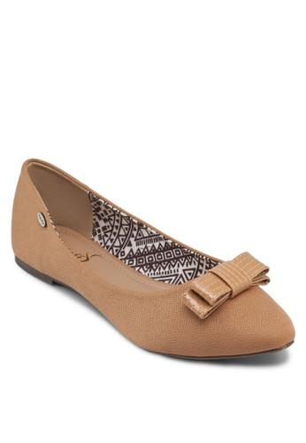 蝴蝶結尖頭平zalora 包包評價底鞋, 女鞋, 芭蕾平底鞋