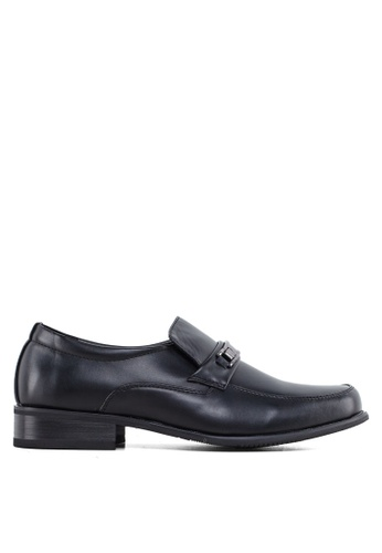 Louis Cuppers black PU Leather Dress Shoes LO977SH05ZVMMY_1