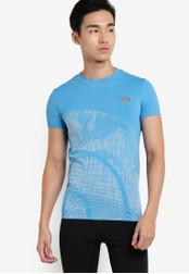 The North Face blue Short Sleeve Knit Tee TH274AA27WKUMY_1