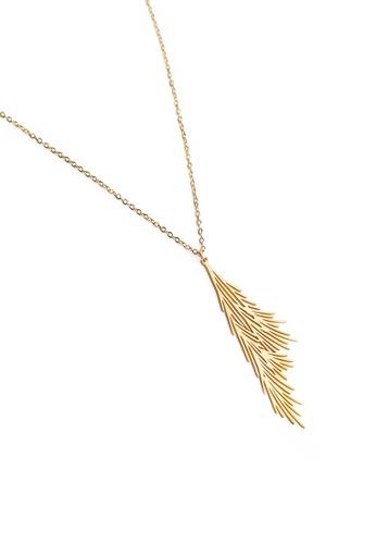 Gung Jewellery gold Alba Pendant Necklace in Matte Gold 1E060ACECC5460GS_1