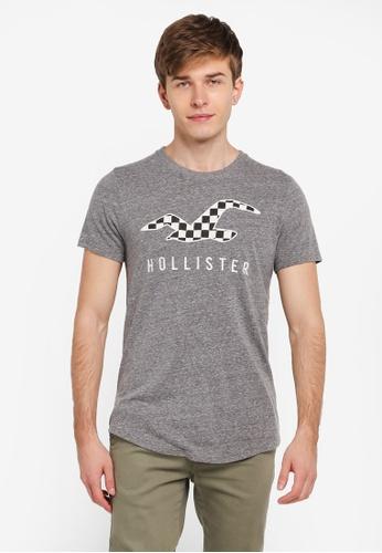 Hollister grey Icon Fill Tech T-Shirt HO422AA0SJPQMY_1