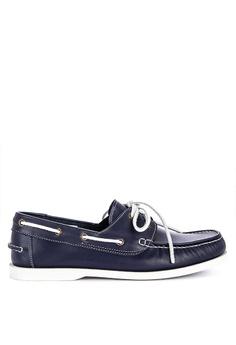 5802d319babf7 Brogue & Derby blue Didier Genuine Leather Boat Shoes 573FFSHCA55CDFGS_1