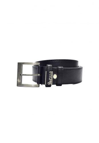 POLOVENZI black Polovenzi Men Leather Belt BBB5DACDEBEBDDGS_1