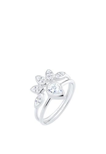 6813b4b00 Elli Germany silver Elli Germany Drop Flower Zirconia 925 Silver Ring Set  EL474AC65DPUMY_1
