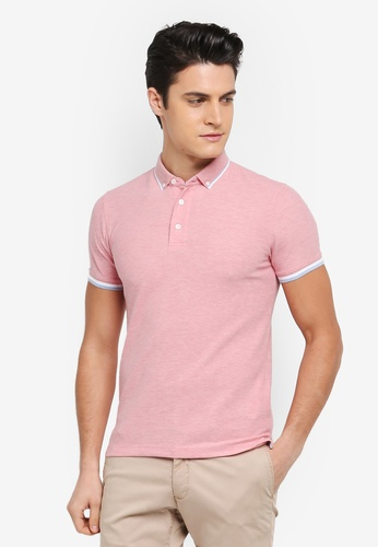 G2000 pink 2 Tone Tipping Colllar Polo Shirt C9F61AA2937538GS_1