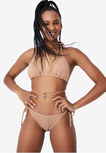 Cotton On Body brown Wrap Around Slider Triangle Bikini Top 687F7USDD15D05GS_1