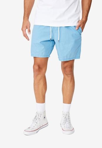 Cotton On 藍色 抽繩短褲 A6654AAED8E0E5GS_1