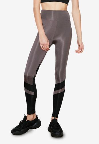Trendyol grey Colorblock Sports Leggings 75B50AA6B62AEEGS_1