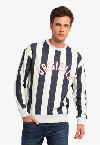a985a7b8eed63b Jack   Jones white and multi Stanmore Stripe Pullover FD705AA97BDBCEGS 1
