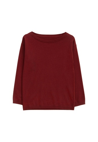 KLAPS red Cashmere-blend Sweater 54487AA10C58E0GS_1
