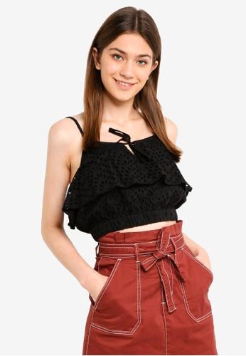 Cotton On black Brooke Cami 04504AA45997E6GS_1