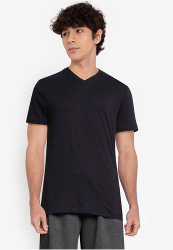 OVS blue Solid Colour T-Shirt 5911DAACDB122EGS_1