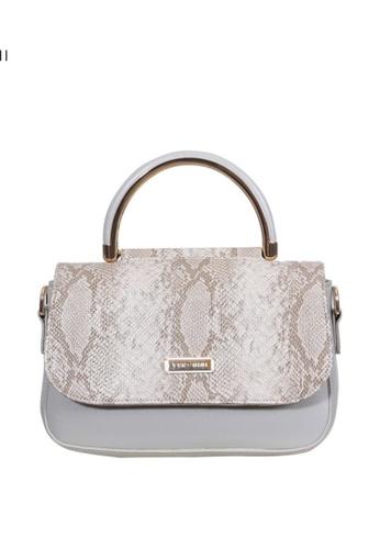Verchini grey Verchini Angular Flap Metallic Top Handle Bag 82921ACF81B738GS_1