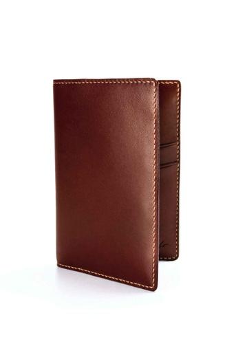 Crudo Leather Craft 褐色 護照套– 可可啡 16AC6AC9389233GS_1