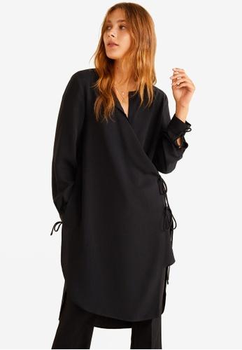 Mango black Wrap Soft Fabric Blouse 6094BAA98E2052GS_1
