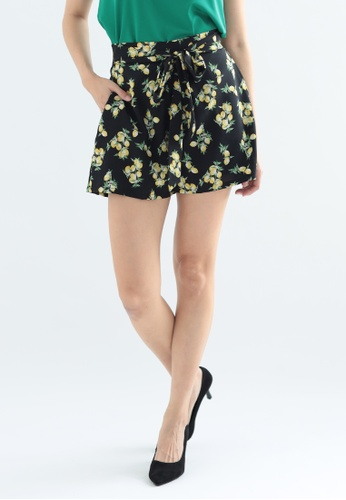 Love Knot black Lemony Self Tie Shorts (Black) 1B1D4AA96B4EB5GS_1