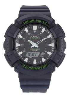 Casio Solar 雙顯示樹脂圓錶