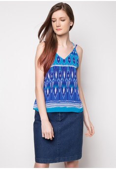 Isobel Cross Back Sleeveless Top