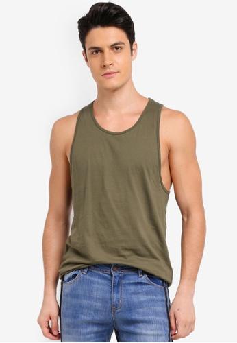 Topman green Slim Fit Vest FA114AA851D6F9GS_1