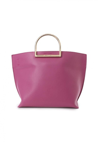 Samantha Thavasa pink and purple Samantha Thavasa Regaly Tote Bag 49EF5ACBD5C8BCGS_1