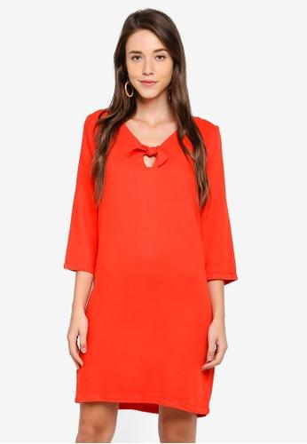 Vero Moda red Trudy V-Neck Bow Dress F739BAA685C964GS_1