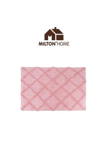 Milton Home pink SET OF 3 Milton Home Mesa Tufted Bath Mat with Anti Slip coating 40 x 60cm / 336g D46E1HLECC4BF5GS_1