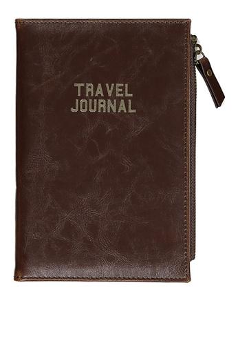 Typo brown Travel Zip Journal 09315AC92B61DFGS_1
