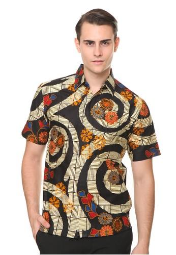 Agrapana black Cadudasa Baju Batik Pria Lengan Pendek Kemeja Batik Lengan Pendek Batik Premium Batik Couple 5FD7BAAD585F8CGS_1
