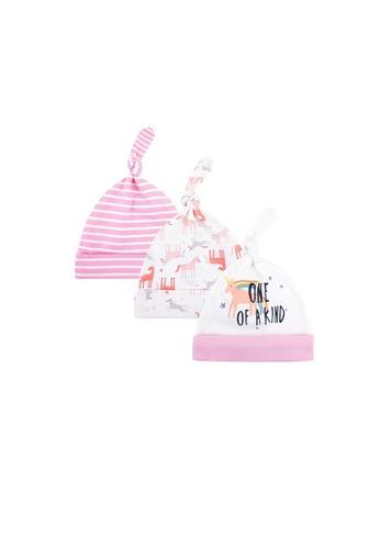 Little Kooma pink Baby Girl Hats 3 Piece Pack 0-6 Months - 0719 Unicorn B21CAKCADCF1C7GS_1