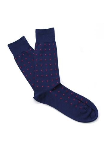 Gay Giano blue Gay Giano Pin Dot Blue Socks 80484AAD9C786EGS_1