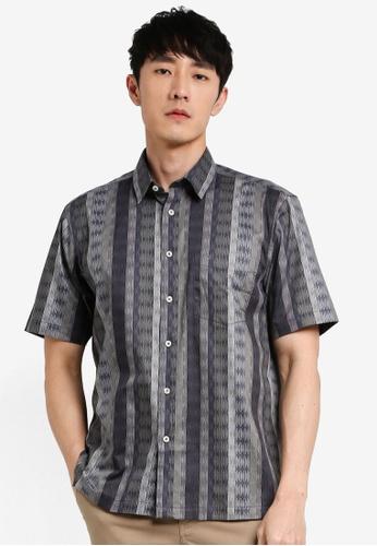 John Master grey John Master Men Timeless Regular Fit Short Sleeve Shirt - Dark Grey 7068118-G8 B95D4AA26245C1GS_1
