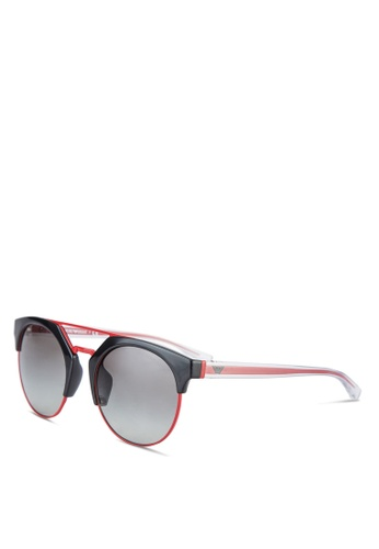 Emporio Armani black EA4092F Sunglasses EM212GL24MBRMY_1
