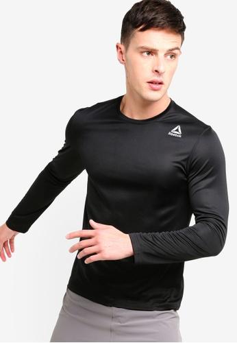 Reebok 黑色 Running Foundation Run Long Sleeve Tee 1ECC6AAA53BBA8GS_1
