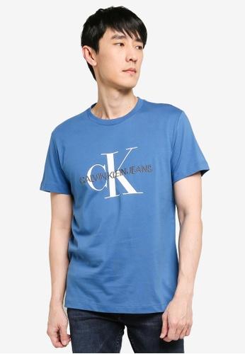 CALVIN KLEIN blue A-Mgm Embro W/O Box Tee - CK Jeans 76E05AA09D3502GS_1