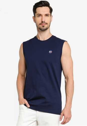 SUPERDRY navy Collective Oversized Tank 0ACA1AA48F8E1BGS_1