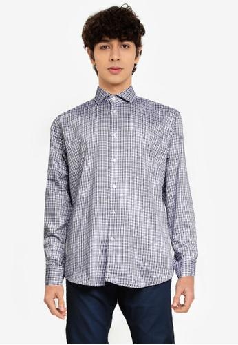 BOSS 藍色 Gordon Long Sleeve Shirt - BOSS Men AA5D8AA0142475GS_1