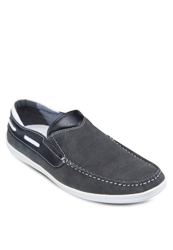 皮革拼接樂福鞋, 鞋, zalora taiwan 時尚購物網鞋子船型鞋