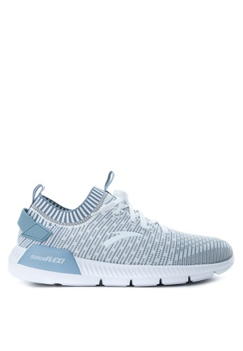 Anta grey and white and blue Mesh Performance Running Shoes AN488SH10KORPH_1
