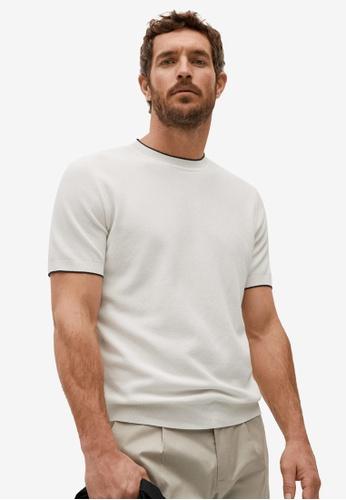 MANGO Man white Modal Cotton Jersey T-Shirt 8D1F0AA6CE1387GS_1