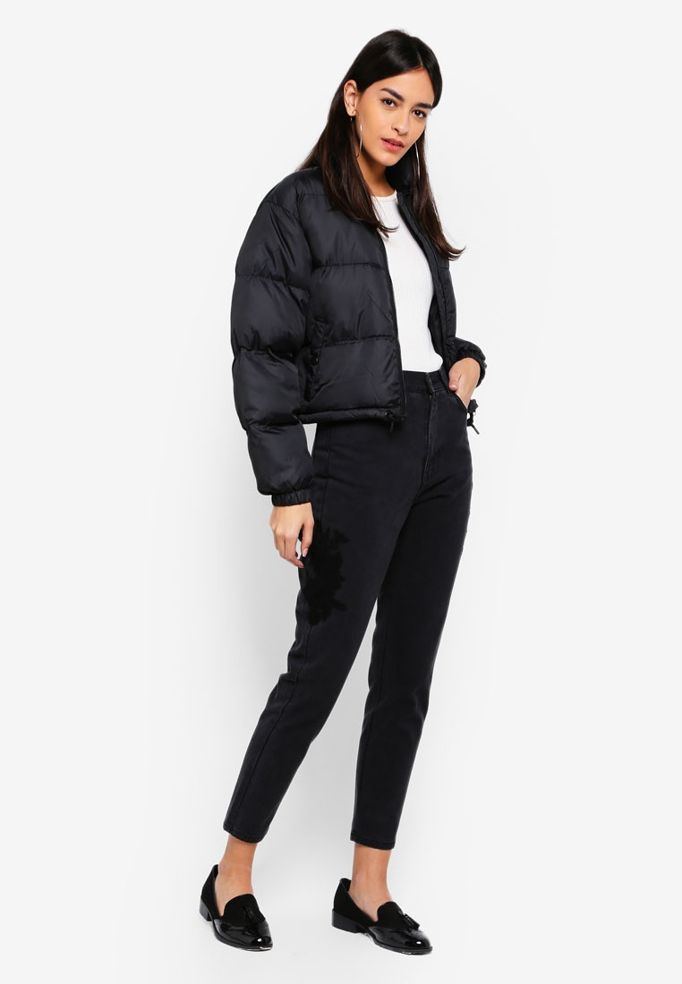 Puffer Black Jacket Denim Bibi Dr ExqYwAIzf