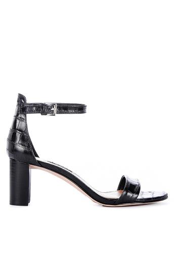 Nine West black Pruce Ankle Strap Blocked Heel Sandals 846A5SH790567FGS_1